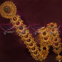 Latest Bridal Jewellery Long Hair Choti Matte Reddish Gold Plated AD Stones Shop Online