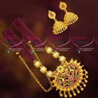 Crystal Beads Mala Hand Beaded Fashion Jewellery Gold Plated Pendant Earrings