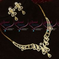 Light Gold Two Tone Gold Silver Plated Metal Alloy Necklace Set