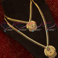 Ruby Emerald AD Stones Low Price Mini Bridal Short Long Gold Covering Jewellery Set