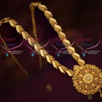South Indian Fancy Gold Covering Medium Haram Latest Daily Wear Jewellery Online