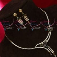 AD Stones Gold Plated Delicate Real Look Fashion Jewellery Set