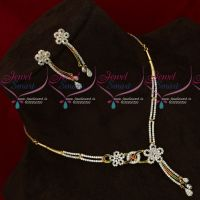 CZ Stones Enamel Colour Trendy Stylish Delicate Necklace Set Online