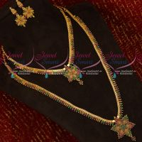 Gold Plated Bridal Jewellery Set Long Lasting Copper Metal Jewellery