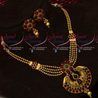 Multi Strand Beaded Kemp Jewellery Set Short Necklace Fancy Designs Online