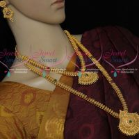 Bridal Jewellery Set South Indian Short Long Matching Combo Gold Covering