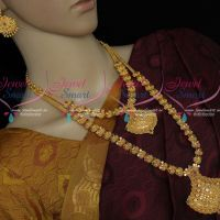 Low Price Gold Covering Combo Short Long Necklace Set Matching Designs