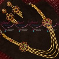 Antique Gheru Gold Plated Kemp Jewellery Multi Layer Beads Mala Online