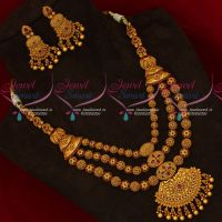 Medium Haram Multi Strand Bridal Grand Jewellery Set Half Beads Mala