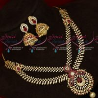 AD Ruby Fashion Jewellery Latest Trendy Imitation Collections Short Necklace