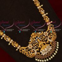 Peacock Design Chain Temple Broad Pendant Traditional South Indian Wedding Jewellery
