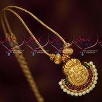 Gold Covering Roll Kodi Chain Temple Traditional Design Pendant Set Online