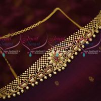 AD Stones Peacock Design Vaddanam Latest Bridal Jewellery Designs Online