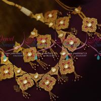 Gheru Brass Metal Gold Finish Meenakari Handwork Kundan Jewellery Mang Tikka Set Shop Online