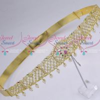 Bridal Gold Plated Traditional AD Jewellery Imitation Vaddanam Latest Designs
