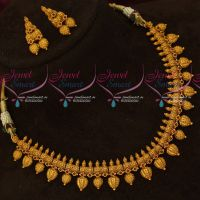 New Design Gold Finish Antique Fashion Artificial Jewellery Necklace Set Online