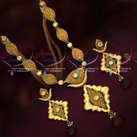 Antique Gold Plated Kundan Meena Work Back Delicate Fancy Jewellery