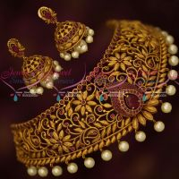 Bridal Jewellery Ruby Stones Choker Latest Fashion Designer Collections Online