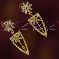 Sparkling AD Stones Fashion Jewellery Trendy Earrings Online
