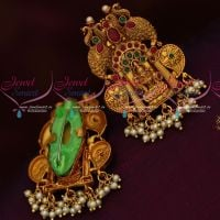 Temple Jewellery Pearl Drops Saree Pins Traditional Imitation Accessory Online