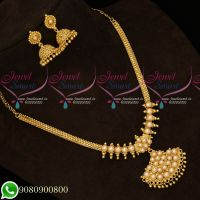 Gold Plated Pearl Attiga Traditional Daily Wear Jewellery Collections