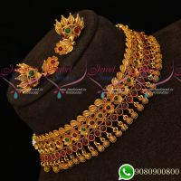Floral Design Kemp Jewellery Small Choker Kids Imitation Jewellery Designs
