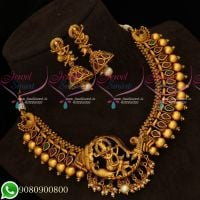 Lord Krishna Design Single Side Mugappu Necklace Temple Jewellery Online