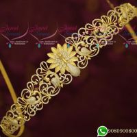 Peacock Design Grand Dazzling Bridal AD Stones Jewellery Designs New Collections