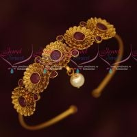 Antique Floral Design Bridal Jewellery String Vanki Latest Traditional Designs Online