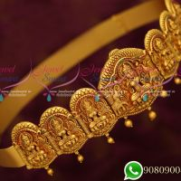 Bridal Oddiyanam Matte Reddish Finish Latest Jewellery Temple Designs Shop Online