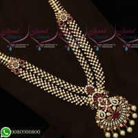 Bridal Jewellery Gold Plated Haram Double Layer Designs Latest Imitation Collections Online