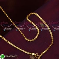 Gold Plated Covering Chains Fancy Designs High Quality Daily Wear 24 Inches