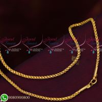 Gold Plated Chains Twisted Design Murukku Kodi High Quality Daily Wear 24 Inches