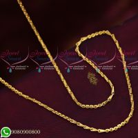 Gold Plated Fancy Double Design Copper Metal 24 Inches Daily Wear Imitation