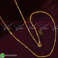 Gold Plated Thin Capsule Design Chain Copper Metal 24 Inches Daily Wear Imitation