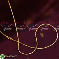 Gold Plated Chains Thin Regular Real Look Design New Models Copper Metal Chains