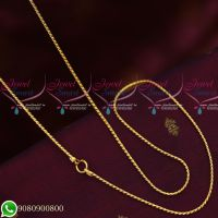 Gold Plated Fancy Thin Model New Design Chains Daily Wear 24 Inches Copper Metal Jewellery