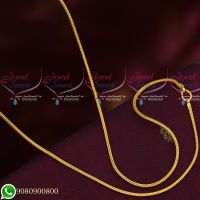 Gold Plated Fancy Kodi Design Chains Daily Wear 24 Inches Copper Metal Jewellery