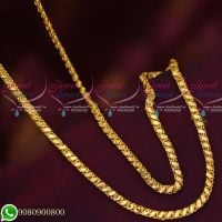 Gold Plated Covering Chains Fancy Cutting Flexible Designs High Quality Daily Wear 24 Inches