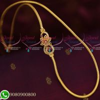 Floral Design Mugappu Thali Kodi Chain South Indian Jewellery Daily Wear Collecions Online