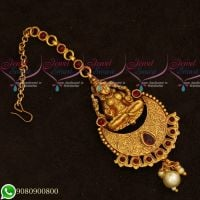 Temple Jewellery Gold Plated Maang Tikka Designs Traditiona Hair Accessory Online