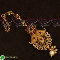Maang Tikka Designs Gold Plated Traditional Jewellery Kemp Stones Collections