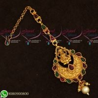 Temple Jewellery Gold Plated Maang Tikka Designs Low Price Traditional Hair Accessory Online