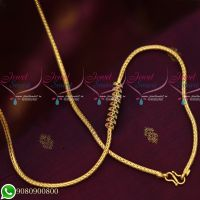 Gold Plated Roll Kodi Designs AD Stones Mugappu South Indian Imitation Jewellery Collections