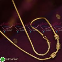 Gold Designs Plated Roll Kodi AD Stones Mugappu South Indian Imitation Jewellery Collections