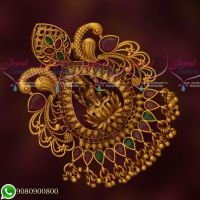 Temple Jewellery Antique Gold Plated Hair Jada Billa Rakodi Matte Finish