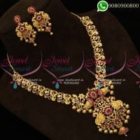 Peacock Design Jewellery Set Necklace Gold Plated