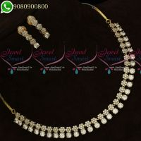 Gold Plated Diamond Finish Jewellery Set Delicate High Quality Stones