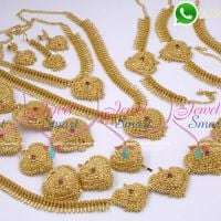 South Indian Gold Plated Bridal Jewellery Set Online