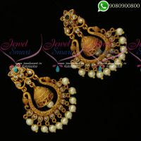 Chand Bali Earrings Latest Matte Gold Plated